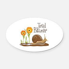 Trail Blazer Oval Car Magnet