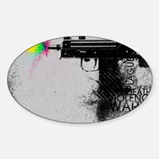 Guns and Violence Decal