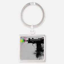 Guns and Violence Square Keychain