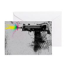 Guns and Violence Greeting Card