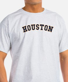 Houston (Arched) Light Gray T-Shirt