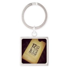 12 Pack Square Keychain
