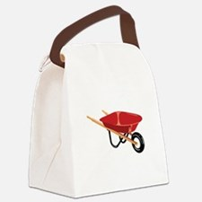 Red Wheelbarrow Canvas Lunch Bag