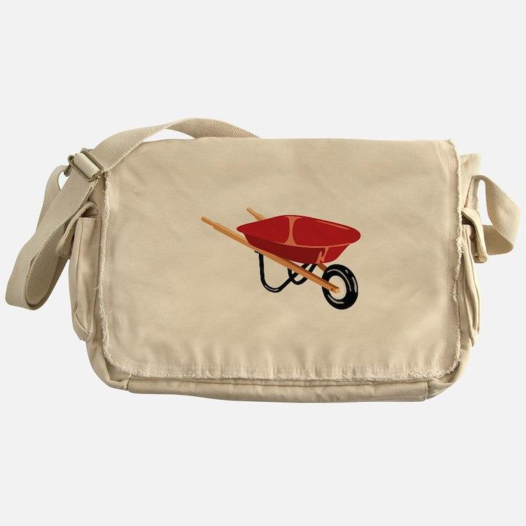 Red Wheelbarrow Messenger Bag