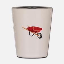 Red Wheelbarrow Shot Glass