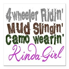 "camo wearin,  Square Car Magnet 3"" x 3"""