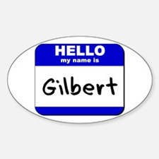 hello my name is gilbert Oval Decal