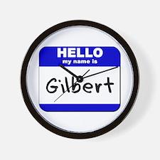 hello my name is gilbert  Wall Clock