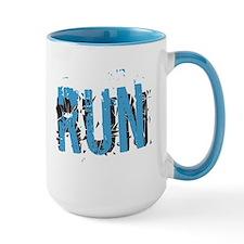 Grunge RUN Mugs - Center