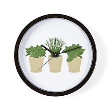 Herb Plants Wall Clock