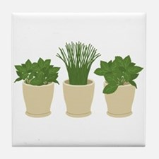 Herb Plants Tile Coaster