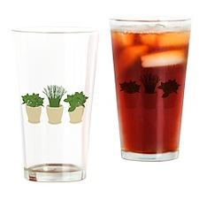 Herb Plants Drinking Glass