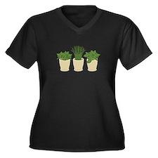 Herb Plants Plus Size T-Shirt