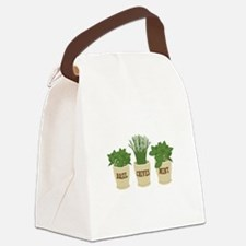 BASIL CHIVES MINT Canvas Lunch Bag