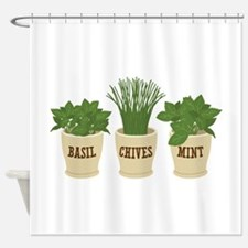BASIL CHIVES MINT Shower Curtain