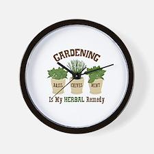 GARDENING IS MY HERBAL Remedy Wall Clock