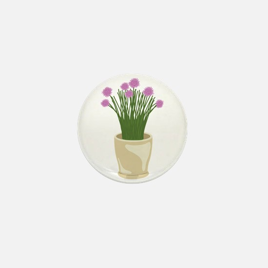 Potted Chive Plant Mini Button