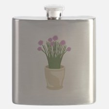 Potted Chive Plant Flask