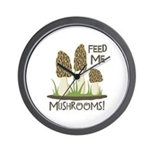 FEED ME MUSHROOMS! Wall Clock