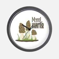Morel Hunter Wall Clock