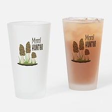 Morel Hunter Drinking Glass