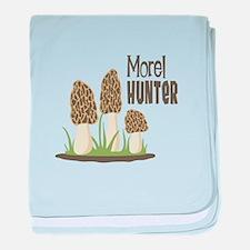 Morel Hunter baby blanket