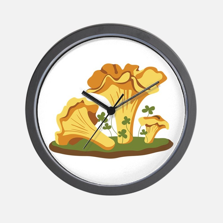 Chanterelle Mushrooms Wall Clock