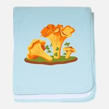 Chanterelle Mushrooms baby blanket