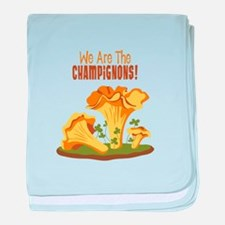 We Are The CHAMPIGNONS! baby blanket