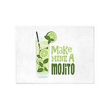 Make MINE A Mojito 5'x7'Area Rug