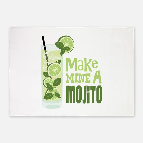 Make MINE A Mojito 5'x7'Area Rug