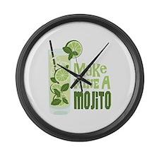 Make MINE A Mojito Large Wall Clock