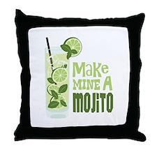 Make MINE A Mojito Throw Pillow