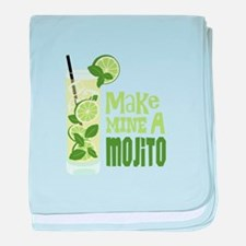 Make MINE A Mojito baby blanket