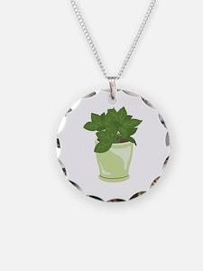 Potted Mint Plant Necklace
