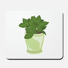 Potted Mint Plant Mousepad