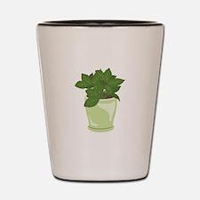 Potted Mint Plant Shot Glass