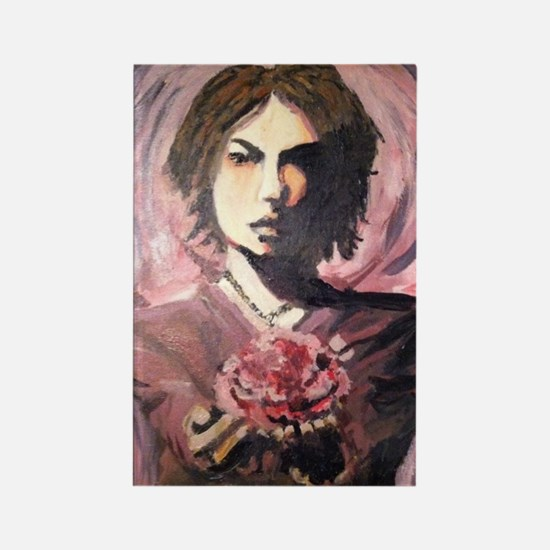 Hyde w/ Rose Rectangle Magnet