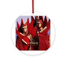 Carnival Masks Ornament (Round)