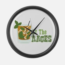 At The RACES Large Wall Clock