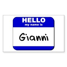 hello my name is gianni Rectangle Decal