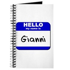hello my name is gianni Journal