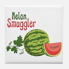 Melon Smuggler Tile Coaster