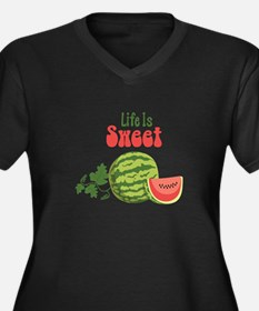 Life Is Sweet Plus Size T-Shirt