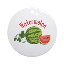 Watermelon Ornament (Round)