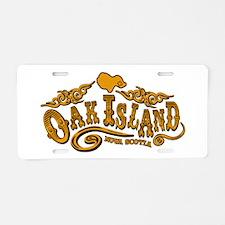 Oak Island Saloon Aluminum License Plate