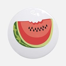 Watermelon Slice Ornament (Round)
