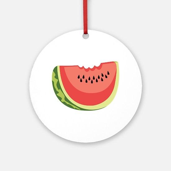 Watermelon Slice Ornament (Round)