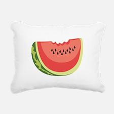 Watermelon Slice Rectangular Canvas Pillow