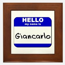hello my name is giancarlo  Framed Tile